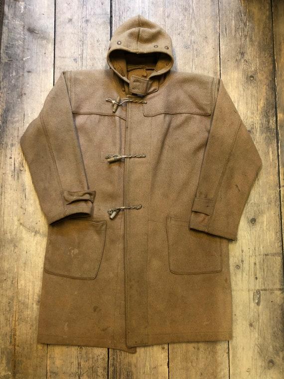 Vintage 1930s/40s WW2 Royal Navy duffle coat size