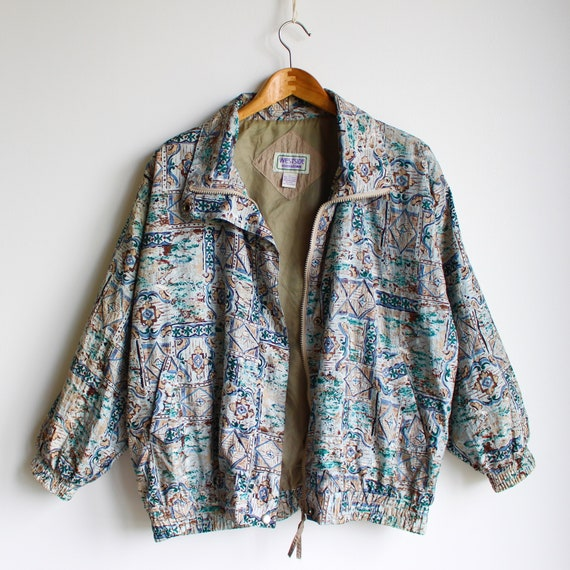 Vintage Abstract Jacket, 80's - image 3