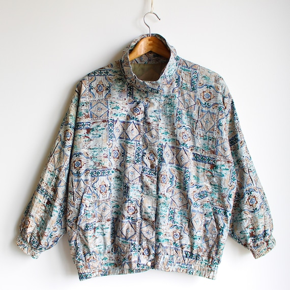 Vintage Abstract Jacket, 80's - image 2