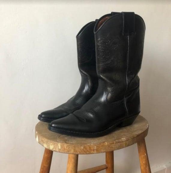 Cowboy Boots - Black Leather
