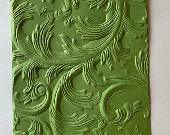 Embossed Card Fronts Damask Embossed Sheets A2 or A7 Embossed Cardstock Embossed Cardstock Sheets