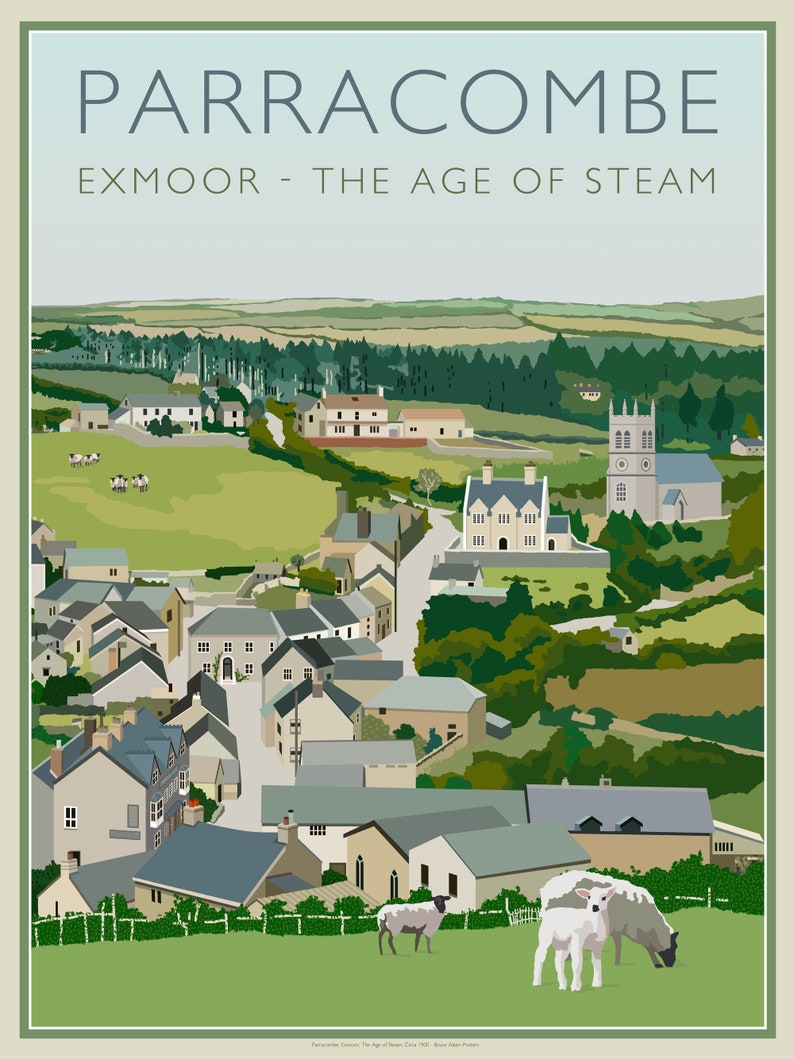 Parracombe Exmoor Devon England  the age of steam  a image 0
