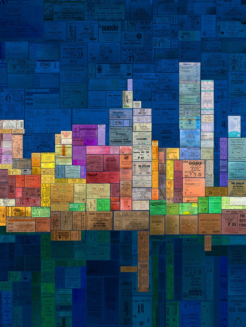 Music in the City  contemporary poster art made from a image 0