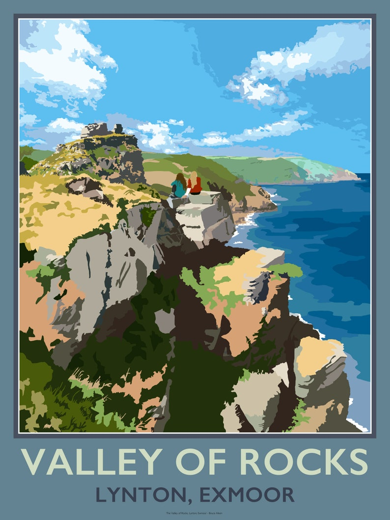 Valley of Rocks Lynton Exmoor North Devon  contemporary image 0