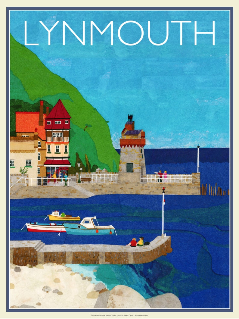 Lynmouth Harbour and the Rhenish Tower Exmoor Devon  image 0