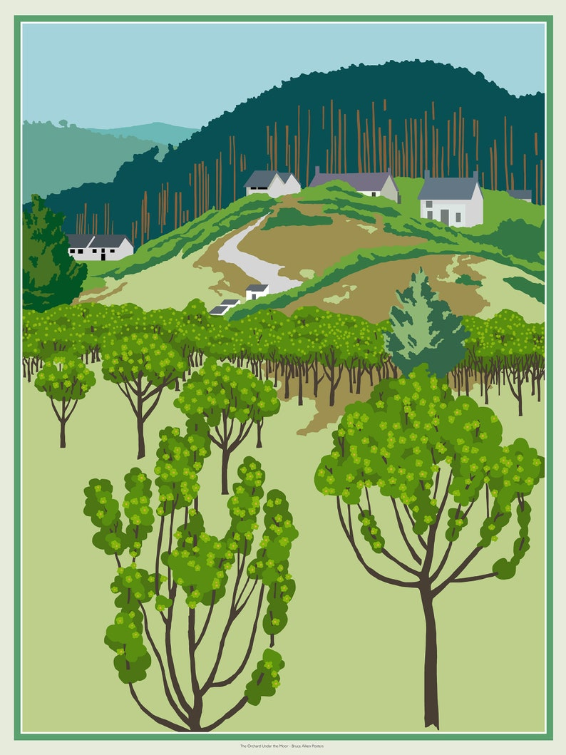 The Orchard Under the Moor  art poster based loosely on an image 0