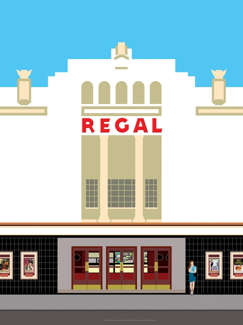 Girl Waiting outside the Regal Cinema  contemporary poster image 0