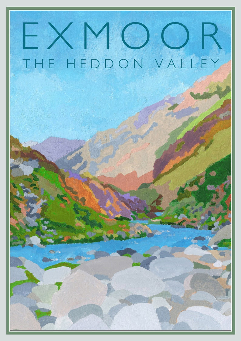 Heddon's Mouth Exmoor North Devon  poster art from an image 0