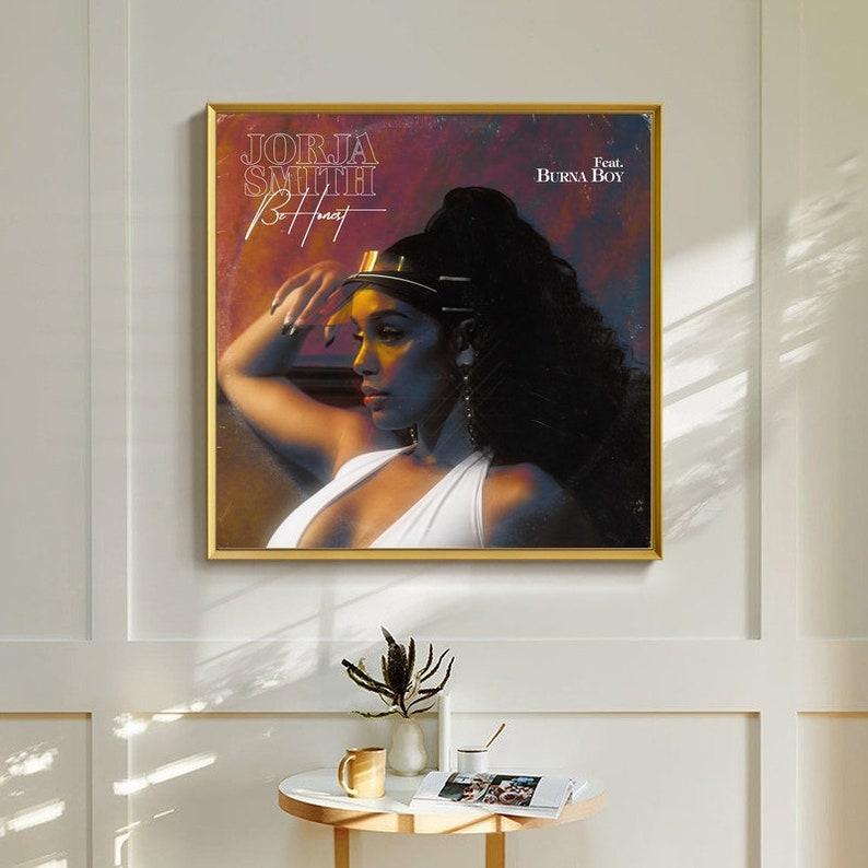 Jorja Smith Be Honest Music Album cover Canvas Poster Unframe