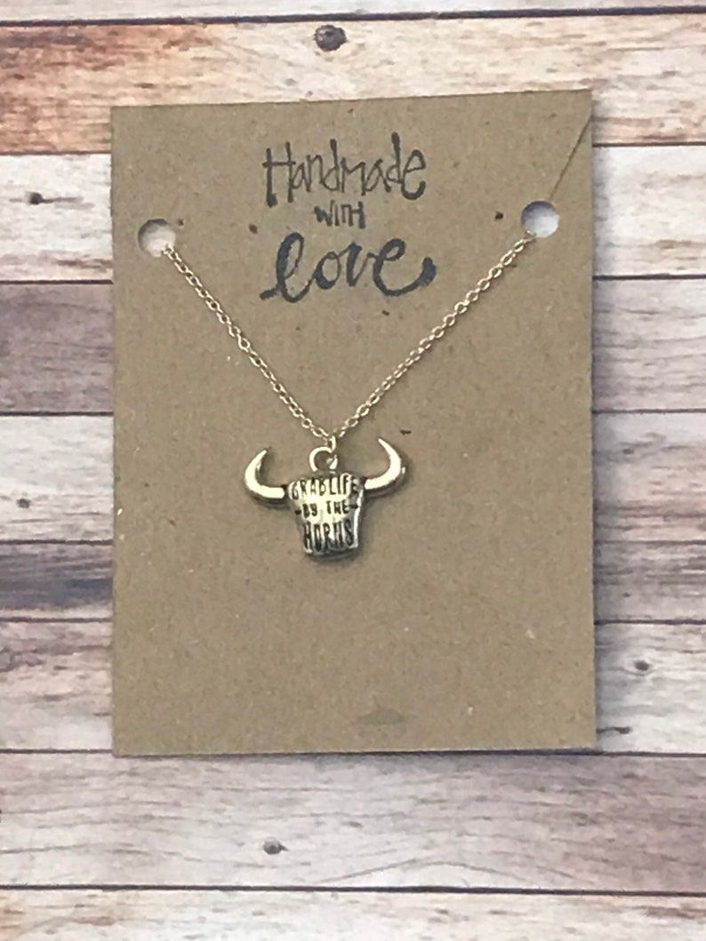 Grab Life By The Horns Golden Bull Head Pendant Necklace