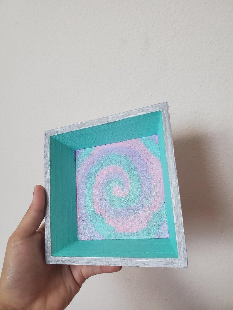Trippy Glitter Tye-Dye Jewelry Holder