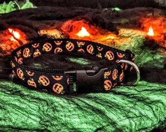 Jack-o-latern dog collar