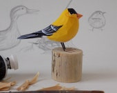 Goldfinch Woodcarving
