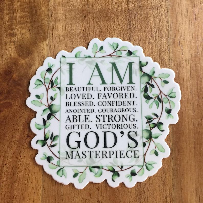 I Am Sticker Self Care Sticker Faith Sticker Religious image 0