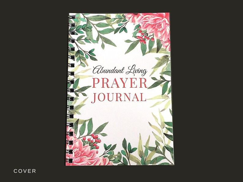 Prayer Journal Spiral Bound Journal Prayer Diary Undated image 0
