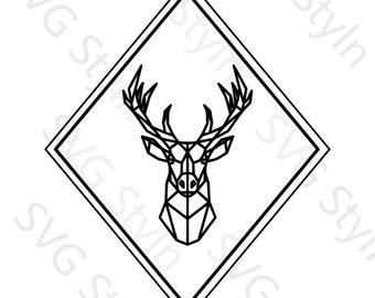Geometric Deer SVGPNGJPG File