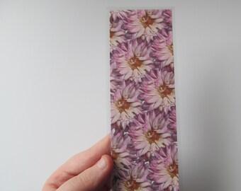 Handmade Botanical Real Pink Cute Flower Laminated Customisable Bookmark