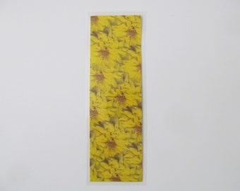 Real Bright Yellow Flower Handmade Laminated Custom Bookmark