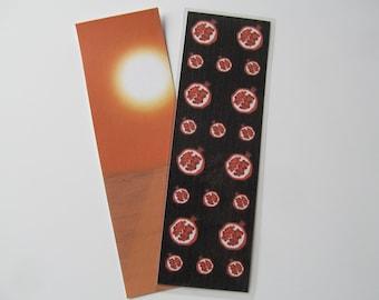 Double-Sided Midnight Sun Twilight Saga Inspired Handmade Pomegranite Laminated Bookmark