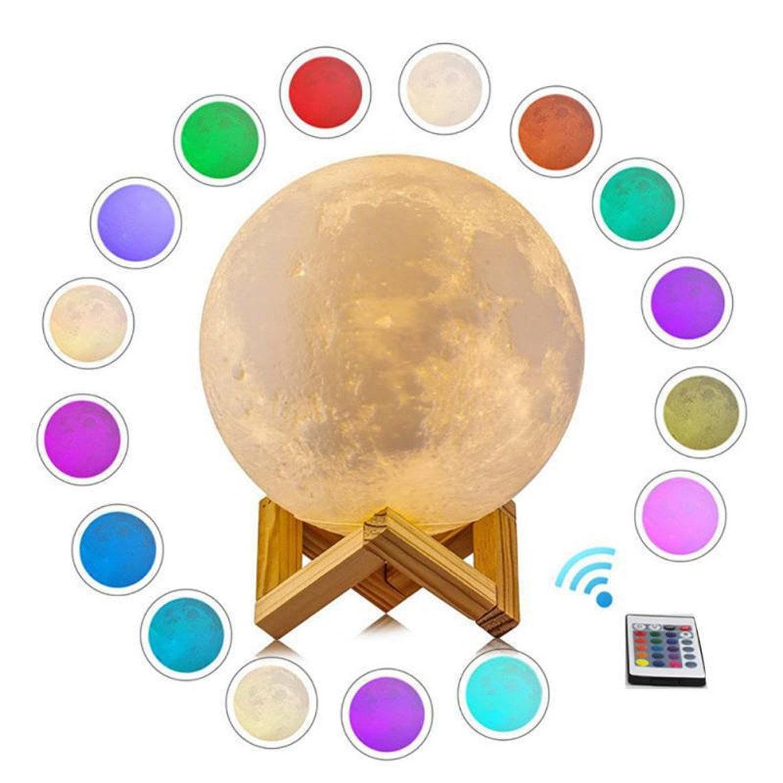 Moon Galaxy LED Light Lamp 3D Magic Moon Lamp LED Color image 8