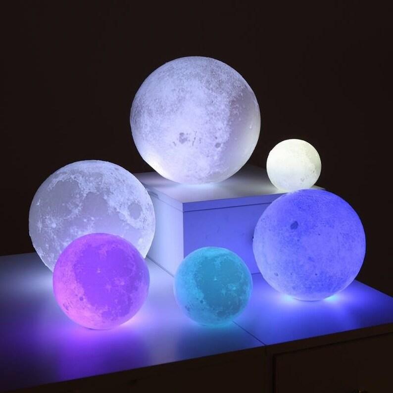 Mond Galaxy LED Licht Lampe 3D Magic Moon Lampe LED Farbe ...