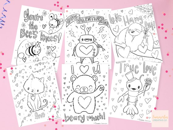 Valentine's Day Coloring Page Printable Coloring Sheets