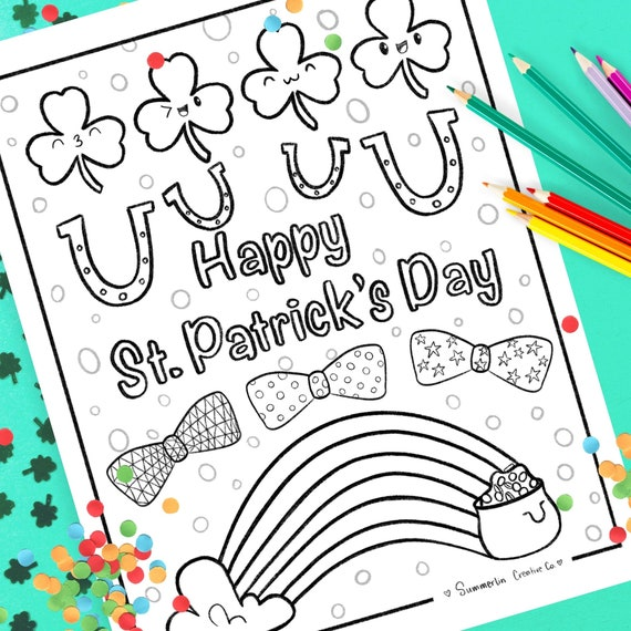 Coloring Page For St. Patrick's Day Coloring Page For Kids