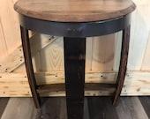 Half Round Barrel Table