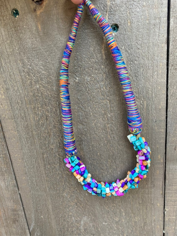 Boho colourful necklace - online thrift