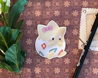 Cute Togepi Sticker | 1 PC Pokemon sticker, matte individual die cut bullet journal accessory, scrapbook supplies, digitally drawn art