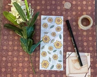 Sunflower Bookmark | book lover gift, handmade digitally drawn, floral book accessories, cute spring bookmark, book stationary, reader