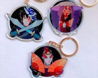 Avatar the Last Airbender Charms - Blue Spirit Zuko | Painted Lady Katara | Kyoshi Warrior Sokka