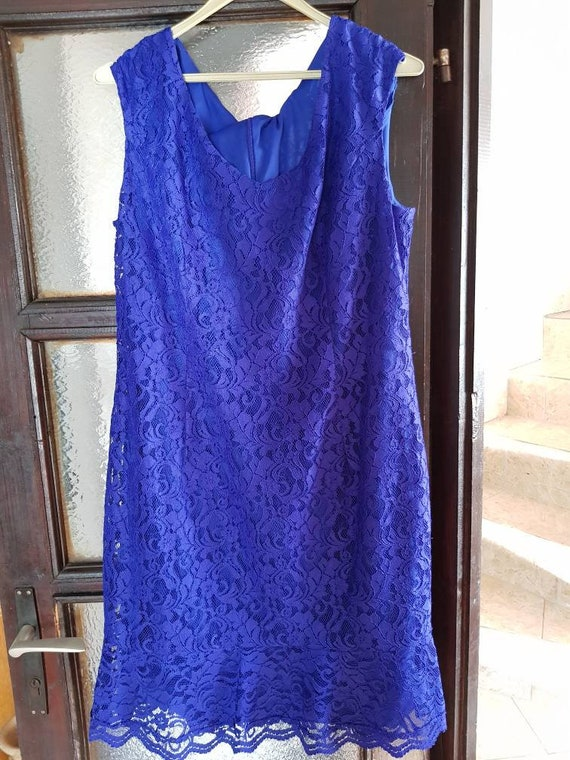 Vintage 90s dress / 1990s dress  / blue dress / pr