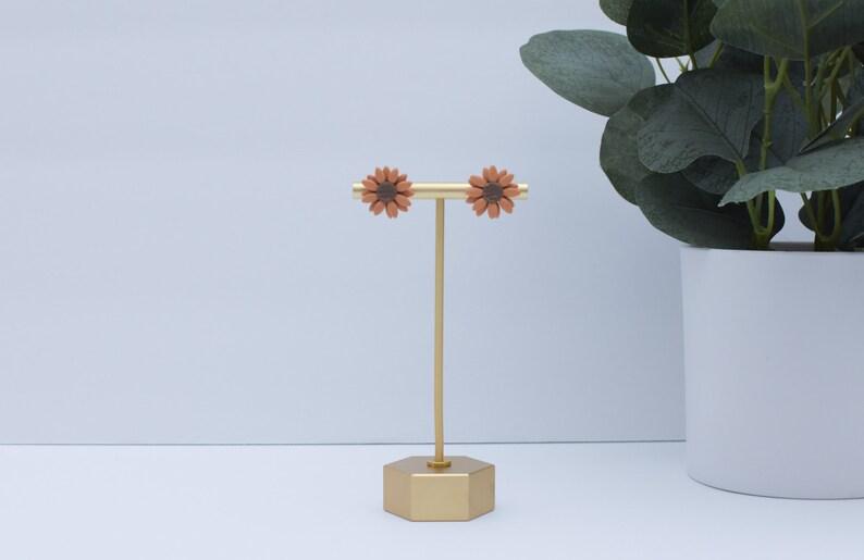 Sunflower Stud Earring Polymer Clay Handmade