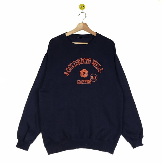 Rare!! Accidents Will sweatshirt Accidents Will pu