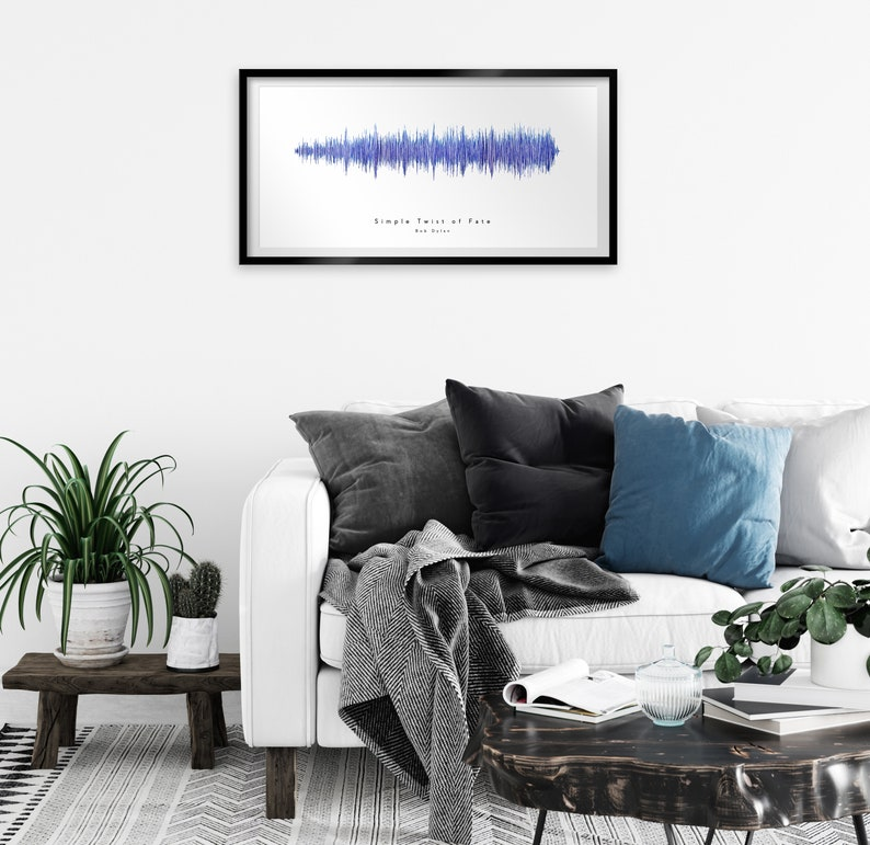 Graduation Personalized Gift Simple Twist of Fate by Bob Dylan Sound Wave Art Custom Soundwave Design Mother/'s Day