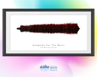 Sympathy for the Devil by The Rolling Stones | Custom Soundwave Design | Soundwave Art | Christmas Gift | Music Art