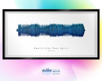 Smells Like Teen Spirit by Nirvana | Custom Soundwave Design | Soundwave Art | Valentines Day | Mothers Day