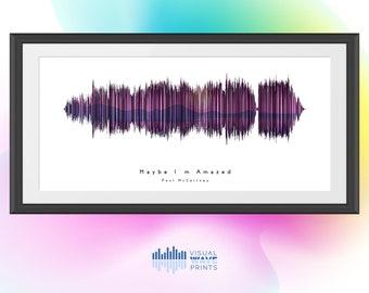 Maybe I'm Amazed by Paul McCartney | Custom Soundwave Design | Soundwave Art | Personalized Gift | Christmas Gift | Music Art
