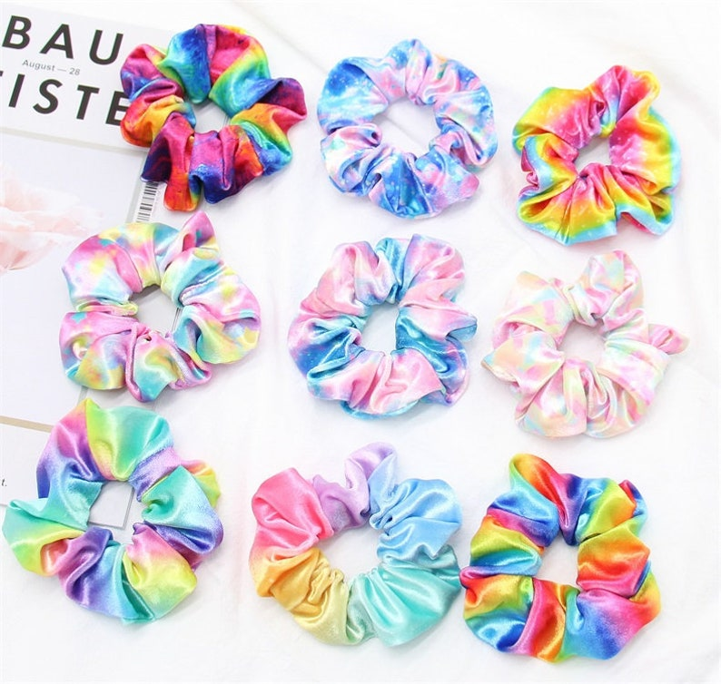 Tie Dye Hair ScrunchiesVelvet Hair ScrunchiesHair Ties image 0