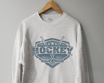 Vintage 1990/'s Hockey Crewneck Sweatshirt M