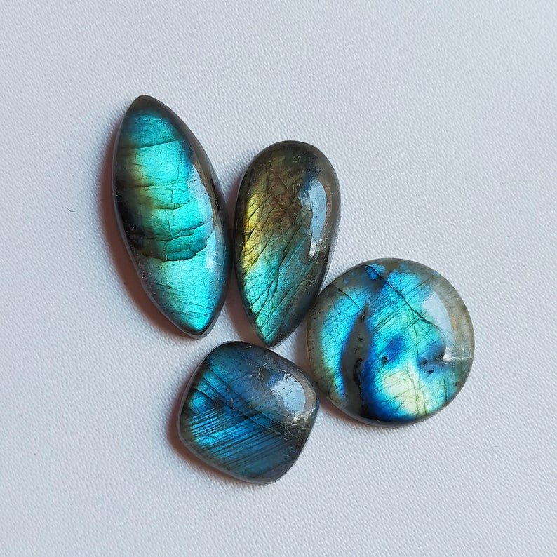 4 Pieces Labradorite Loose Cabochon 80 Cts Mix Shape Lot 100/% Natural Multi Flashy Labradorite Gemstone Pendant Jewelry Cabochon