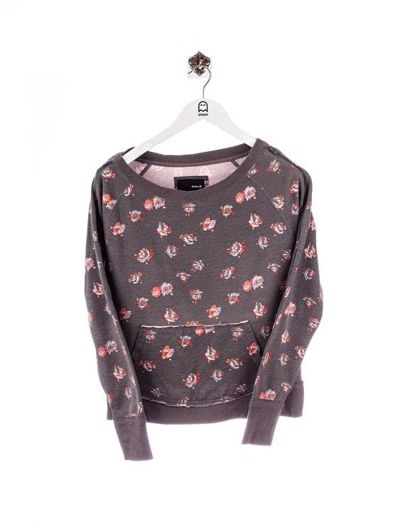 Vintage Hurley  Floral Sweatshirt Grau/Floral