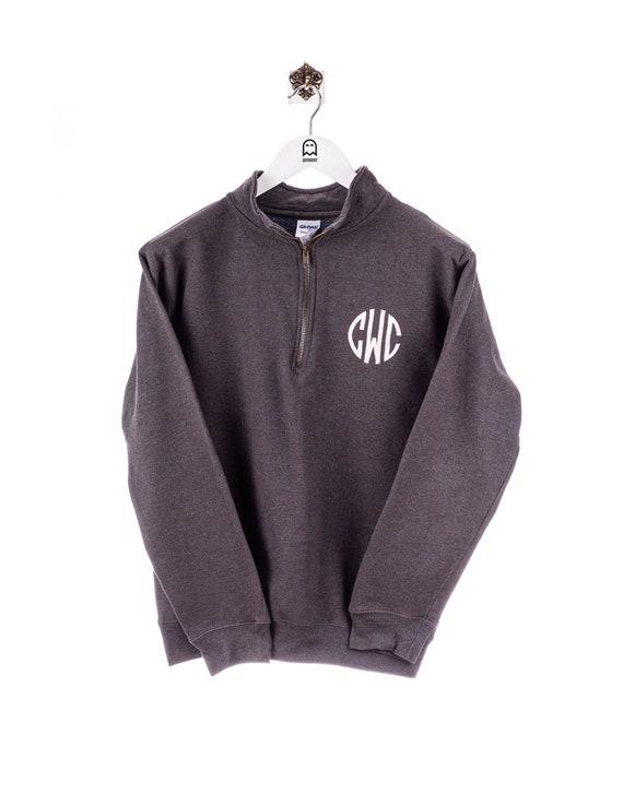 Vintage Gildan CWC Halfzip Sweatshirt Grey/Pink