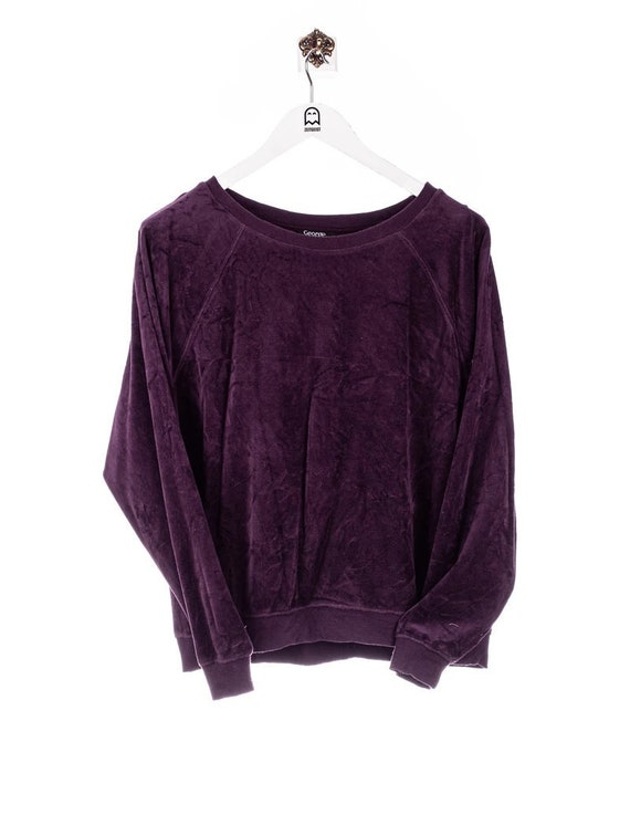 Vintage George Velour Sweatshirt Purple