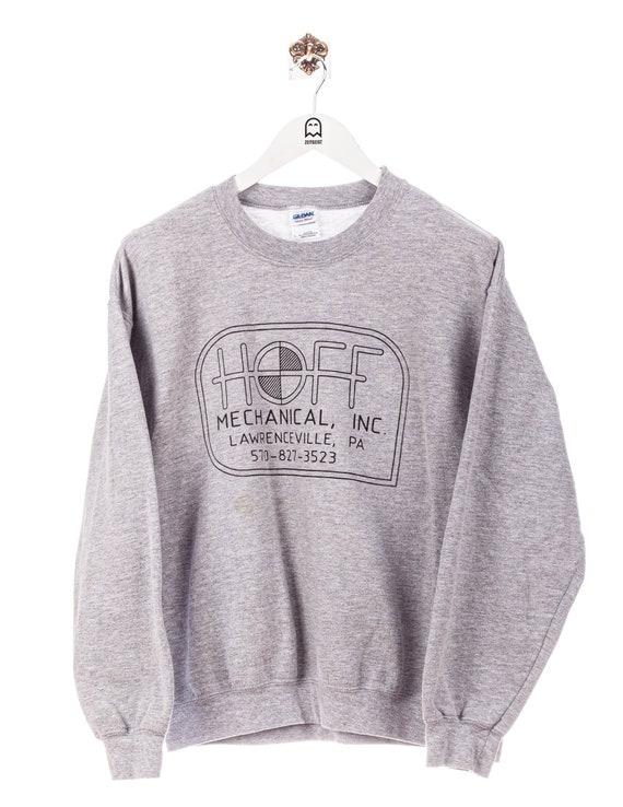 Vintage Gildan Sweatshirt Hoff Mechanical Print Gr