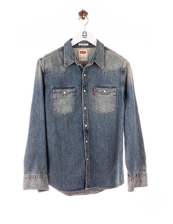 Vintage Levis Denim Shirt Blue