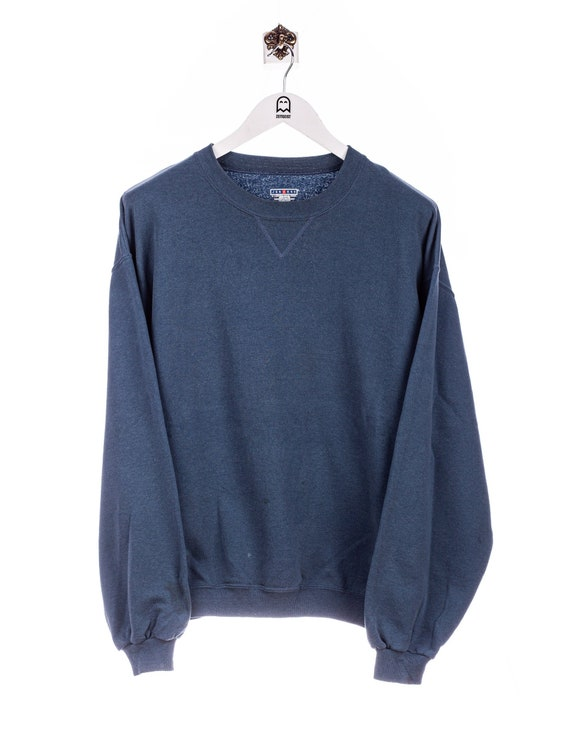 Vintage Jerzees  Basic Look Sweatshirt Blau/Grau
