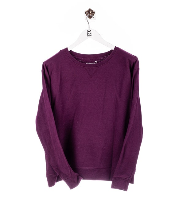 Vintage Hanes Basic Sweatshirt Purple