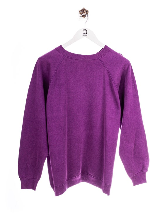 Vintage Hanes 90s Basic Sweatshirt Purple